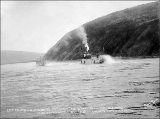 Steamboats COLUMBIAN and the ELDORADO sailing from Dawson on a race to White Horse Rapids, July 4,...