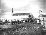 Front St. showing Hegg's photography studio, Nome, Alaska, ca. 1900.