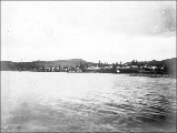 Atlin viewed from the water, British Columbia, ca. 1898.