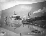 Arrival of steamboat SEATTLE NO. 1 at Dawson, Yukon Territory, 1898