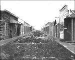Prostitution district of Klondike City, across the Klondike River from Dawson, Yukon Territory,...