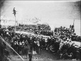Crowd assembled for Victoria Day celebration, Dawson, Yukon Territory, May 24, 1899.