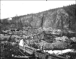 Gold mining operation on Bonanza Creek, Yukon Territory, ca. 1899.