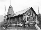 Log cabin housing the North-West Mounted Police and Canadian Telegraph Station offices, Carcross,...