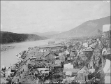Klondike City on the Yukon River, Yukon Territory, September 1898.