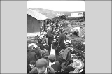 Passengers departing on the Wild Goose Railroad for July 4th picnic, vicinity of Nome, Alaska,...