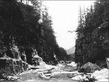 Box Canyon on the White Pass Trail, Alaska, March 30, 1899.