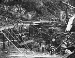 Sluicing operation of the Porcupine Mining Co., Alaska, ca. 1899.