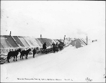Summit camp during the construction of the White Pass & Yukon Railroad, White Pass, Alaska,...