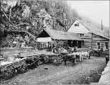 Chilkoot Railroad and Transport Co., Canyon City, Chilkoot Trail, Alaska, April 22, 1899.
