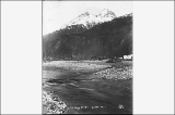 Bates Peak from the Skagway River, Alaska, ca. 1898.