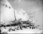 Klondikers at The Scales and ascending to the summit of Chilkoot Pass, Alaska, 1898.