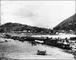 Y.M.C.A. excursion to Bennett Lake on the White Pass & Yukon Railroad, Bennett station,...