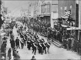 Parade of the Yukon Order of Pioneers for the July 4th celebration, Nome, Alaska, 1901.