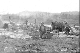 Klondikers drying out goods on the shore after a boat wreck at Whitehorse Rapids, Yukon Territory,...