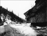 Upper end of Box Canyon, White Pass Trail, Alaska, March 30, 1899.