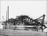 Dredging on the Snake River with the WISCONSIN, Nome, Alaska, ca. 1901.