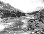 Rapids on One Mile River between Bennett Lake and Lindeman Lake, British Columbia, June 4, 1899.