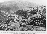 Mining operations in the vicinity of Bonanza Creek and Eldorado Creek, Yukon Territory, ca. 1898.