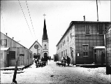 Courthouse, Recorder's Office and Catholic Church, Nome, Alaska, ca. 1900.
