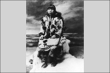 Eskimo woman dressed in fur parka, Alaska, ca.  1901.