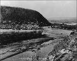 "Klondike City, or """"Lousetown"""", across the Klondike River from Dawson, Yukon..."