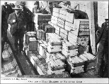 Last shipment of gold for the year leaving Dawson, Yukon Territory, September 14, 1898.