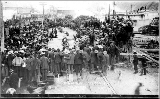 Crowd watching Tug of War game, Dawson, May 24, 1899
