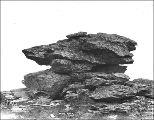 Rock near the summit of Anvil Mountain, four miles north of Nome, Alaska, ca. 1901.