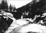 Frozen waterfalls in Box Canyon, White Pass Trail, Alaska, March 30, 1899.