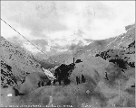 Aerial tramway powerhouse of the Dyea-Klondike Transportation Company, Chilkoot Pass, Alaska, ca....