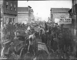 Blockade of people on Front St., Nome, Alaska, July 1, 1900.