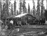 First station of the Trans Alaska Co. at Holy Cross (formerly Kozherevsky), Alaska, October 19,...