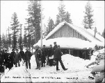 Canadian custom house at Log Cabin, British Columbia, March 17, 1899.