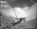 Klondikers at The Scales, ascending the Chilkoot Pass, Alaska, 1898.