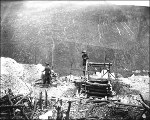 Keith and Wilson mining operation on French Hill, Yukon Territory, ca. 1898.