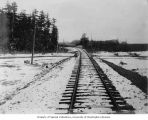 Railroad tracks at Mile 17 in the vicinity of Alaganik, October 22, 1908