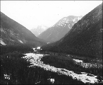 East fork of the Skagway River, Alaska, ca. 1898.
