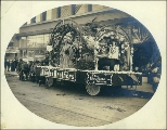 Parade Float, or publicity advertisement, for Rhodes Brothers Department Store, Tacoma,...