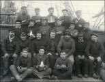 Crew on the deck of the sailing vessel BAYONNE, Washington, ca. 1904.