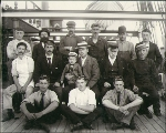 Crew on the deck of the sailing vessel SOKOTO, Puget Sound, Washington, ca. 1904.