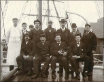 Crew of the British sailing vessel DURHAM, Washington, ca. 1904.