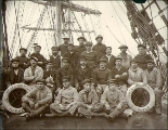 Crew of the four-masted bark VILLE DE MULHOUSE, Puget Sound port, Washington, ca. 1904.