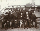 Crew of the British four-masted bark ANDELANA taken on deck, Tacoma, Washington, January 14, 1899.
