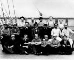 Crew of four-masted bark ALSTERSCHWANN on deck, Washington, ca. 1900.