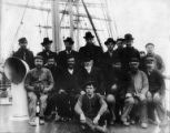 Crew on deck of unidentified ship, Washington, ca. 1900.