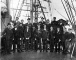 Crew of the four-masted bark CLAN GALBRAITH on deck, Washington, ca. 1900.