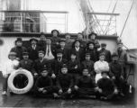 Crew of the sailing vesssel DIMSDALE on deck, Washington, ca. 1900