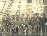 Crew of the U.S. Army transport BURNSIDE, Washington, ca. 1900.