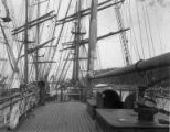 Deck of sailing ship INVERMARK in port, Washington, ca. 1900.